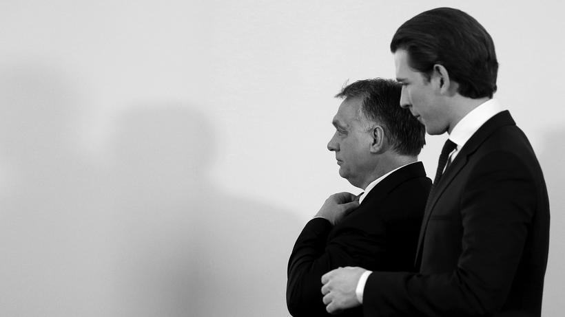 Populismus: Victor Orbán und Sebastian Kurz bei einem gemeinsamen Auftritt in Wien im Januar 2018