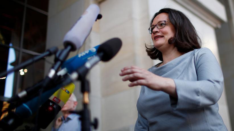 Sozialdemokraten: Andrea Nahles warnt SPD vor Asylpolitik der Grünen