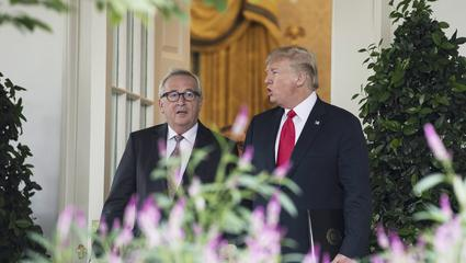 Handelsstreit: Jean-Claude-Juncker und Donald Trump in Washington