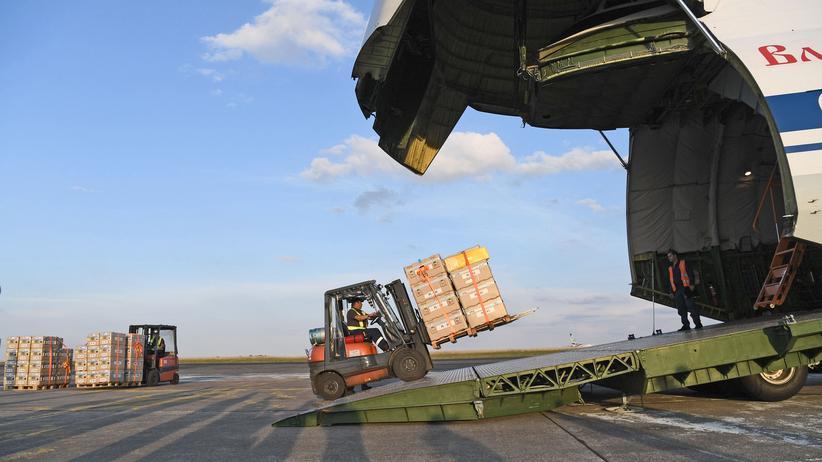 Ostghuta: Erster russisch-französischer Hilfsflug auf dem Weg nach Syrien
