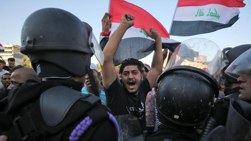 Irak: Demonstranten in Bagdad