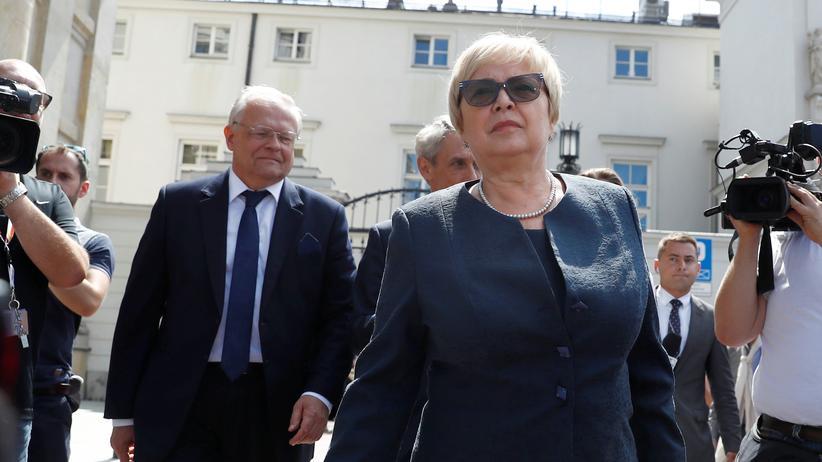 Justizreform: Oberste Richterin Polens verweigert Zwangspensionierung