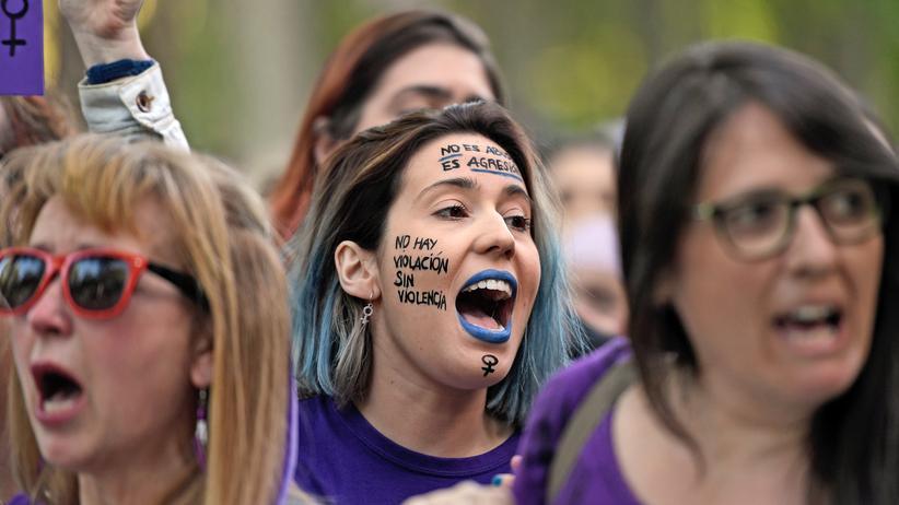 Sexualstrafrecht: Proteste in Madrid gegen das Urteil im April