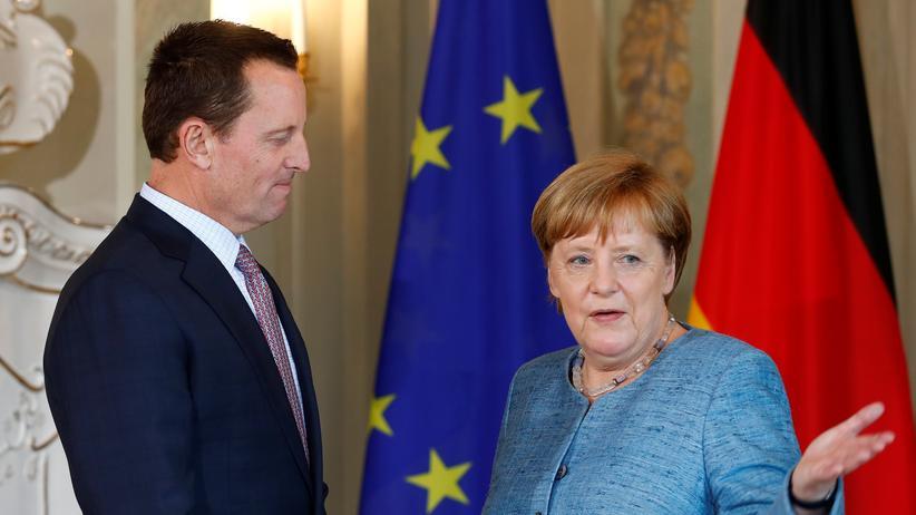 Sanktionen: US-Botschafter Richard Grenell mit Kanzlerin Angela Merkel