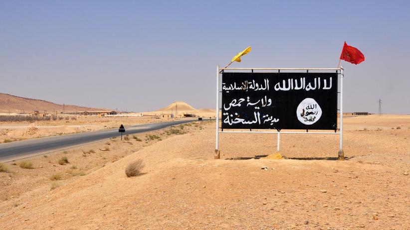 """Syrien: Schild des """"Islamischen Staates"""""""