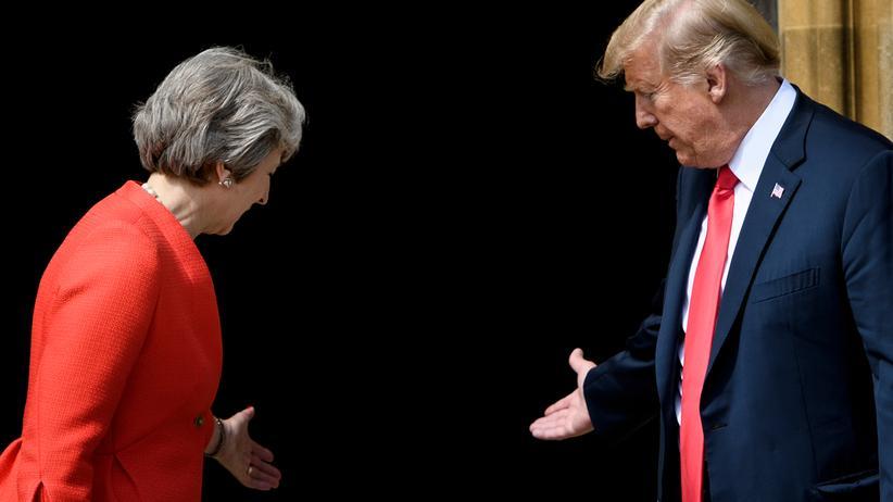 Besuch in London: Die britische Premierministerin Theresa May und US-Präsident Donald Trump