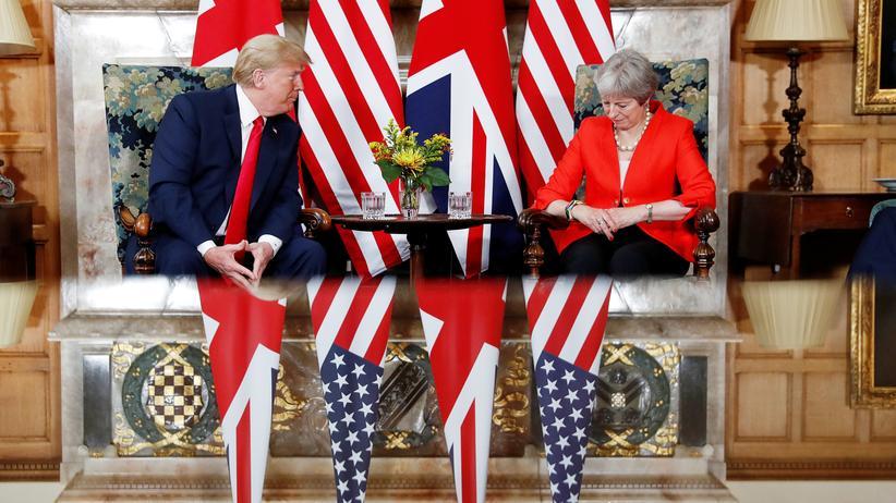 Großbritannien: US-Präsident Donald Trump und die britische Regierungschefin Theresa May