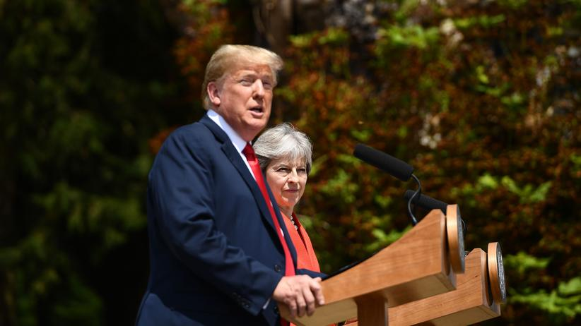 Theresa May und Donald Trump: US-Präsident Donald Trump und Großbritanniens Regierungschefin Theresa May