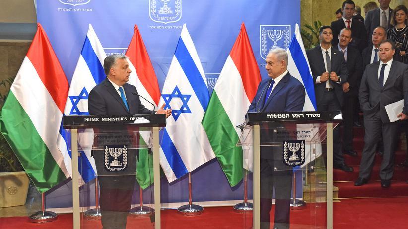 """Israelbesuch: Netanjahu sieht in Orbán einen """"wahren Freund Israels"""""""