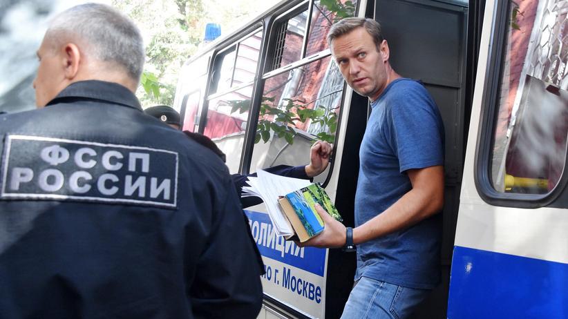 Moskau: Alexej Nawalny am Montag vor seiner Verhandlung in Moskau