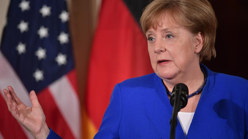 Außenpolitik: Angela Merkel 2017 in Washington