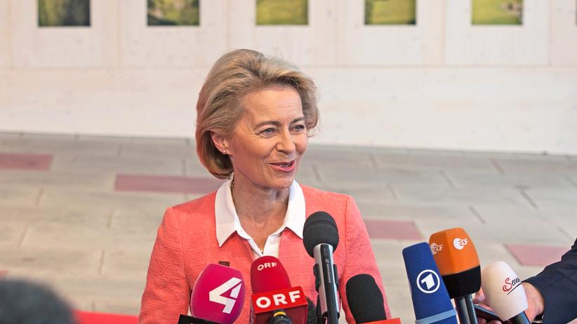 Flüchtlingspolitik: Bundesverteidigungsministerin Ursula von der Leyen beim Treffen der EU-Verteidigungsminister in Wien