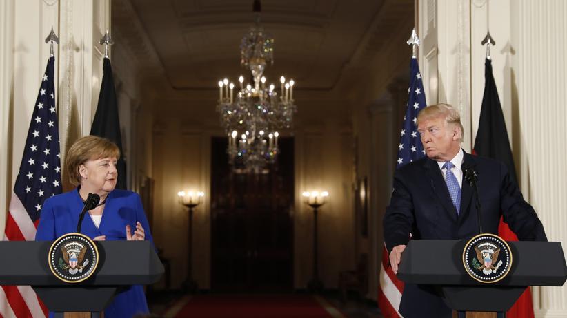 Telefonat: Donald Trump und Angela Merkel wollen Handelskonflikt entschärfen