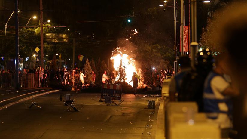 Rumänien: Hunderte Verletzte bei Zusammenstößen mit Polizei