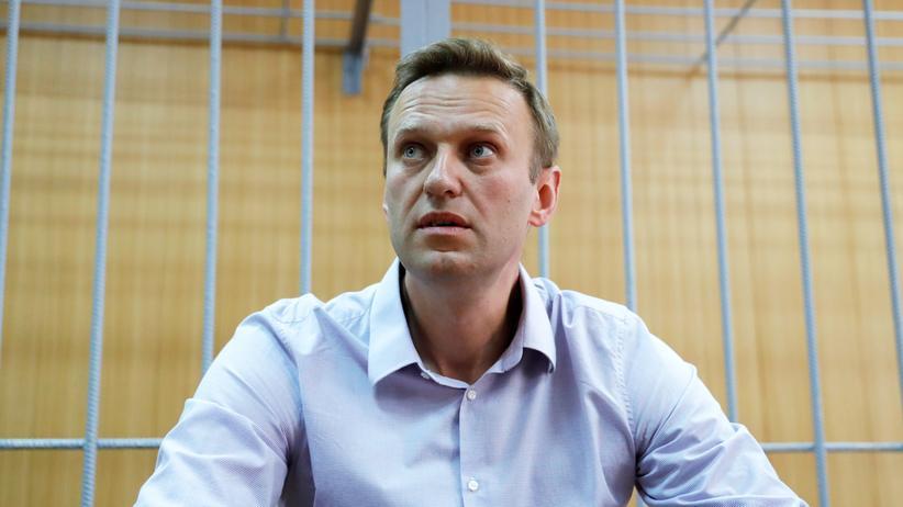 Russland: Alexej Nawalny bei einer Anhörung im Gericht im Mai 2018.