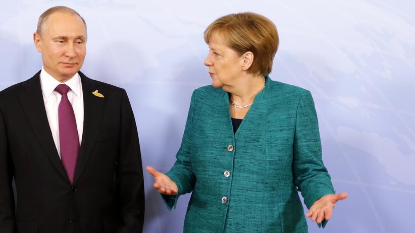 Wladimir Putin und Angela Merkel: Ohne Mäßigung in Syrien keine besseren Beziehungen