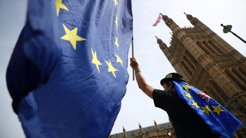 Brexit: Protest gegen den Brexit vor dem Parlament in London