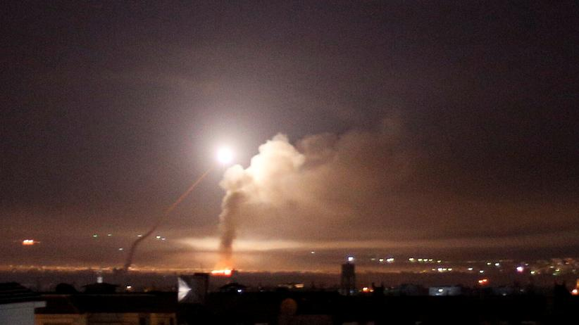 Syrien: Raketenangriff auf Damaskus im Mai 2018 (Archivbild)