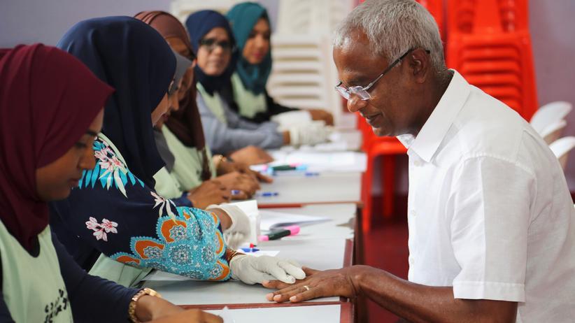 Malediven: Oppositionskandidat gewinnt Präsidentenwahl