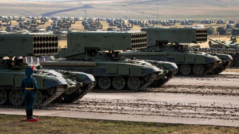 US-Außenministerium: Russische Militärausrüstung bei einer Übung