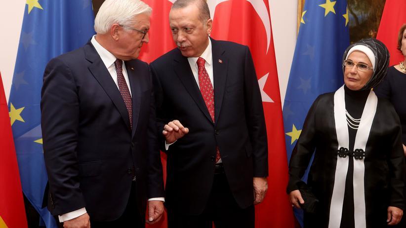 Erdoğan-Besuch: Bundespräsident Frank-Walter Steinmeier und sein türkischer Amtskollege Recep Tayyip Erdoğan.