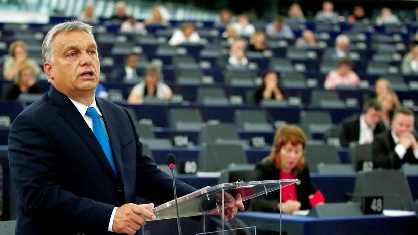 Europäisches Parlament: Ungarns Premierminister Viktor Orbán spricht vor dem EU-Parlament.