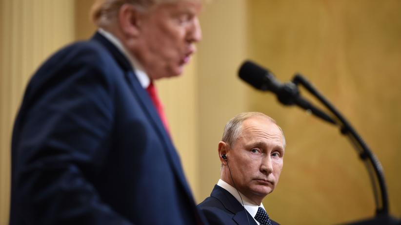 Abrüstungsvertrag: US-Präsident Donald Trump und Russlands Präsident Wladimir Putin
