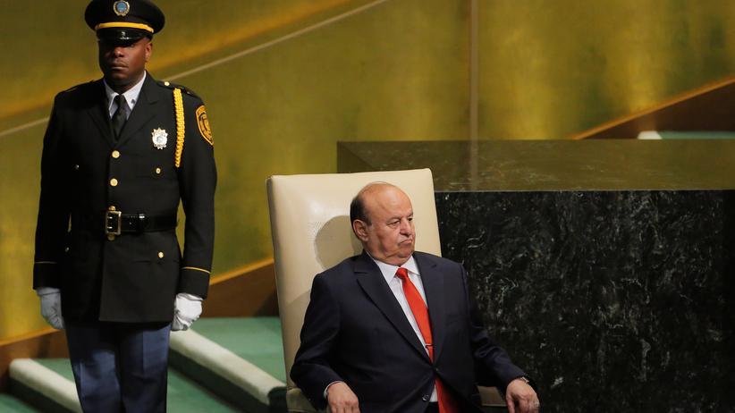 Jemen: Jemens Präsident Präsident Abed Rabbo Mansur Hadi bei den Vereinten Nationen in New York