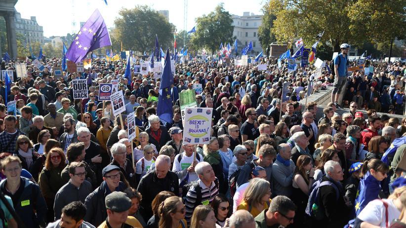London: Hunderttausende Briten fordern zweites Brexit-Referendum