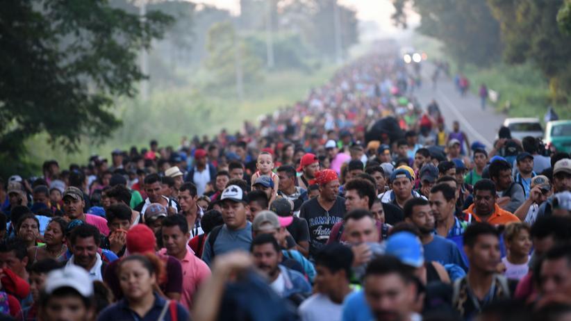 Zuwanderung: Migranten aus Mittelamerika marschieren weiter