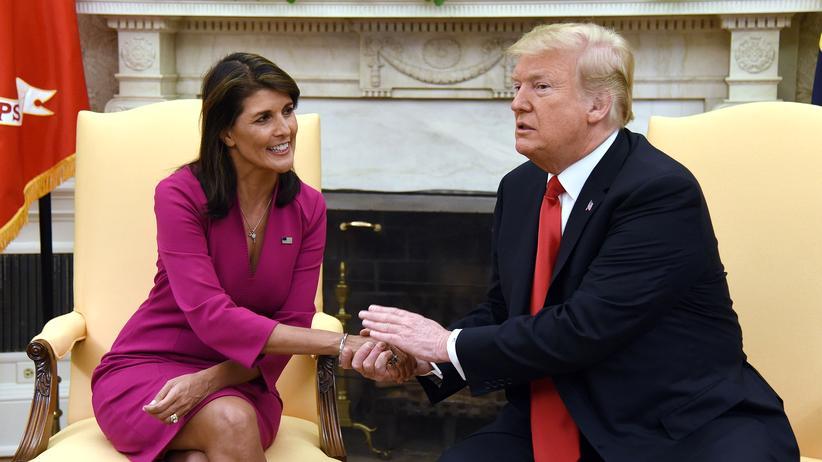UN-Botschafterin: US-Präsident Donald Trump dankt UN-Botschafterin Nikki Haley in einem gemeinsamen Statement für ihren Einsatz