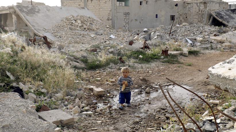 Syrien: Zerstörte Gebäude in der syrischen Region Kobane