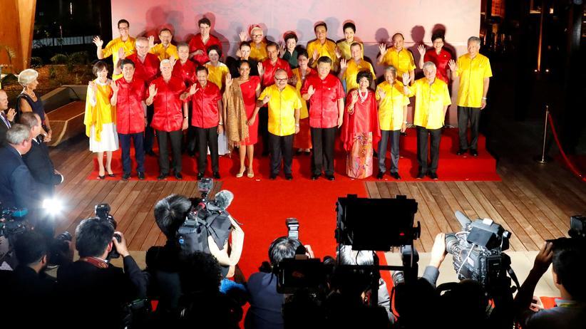 Asien-Pazifik-Gipfel: Beim Gipfel in Port Moresby waren fast alle 21 Apec-Mitglieder mit ihrem Staatschef oder der Regierungschefin dabei.