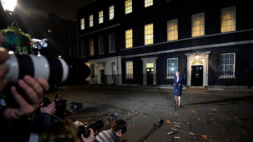 Europäische Union: May bei einem Statement in London