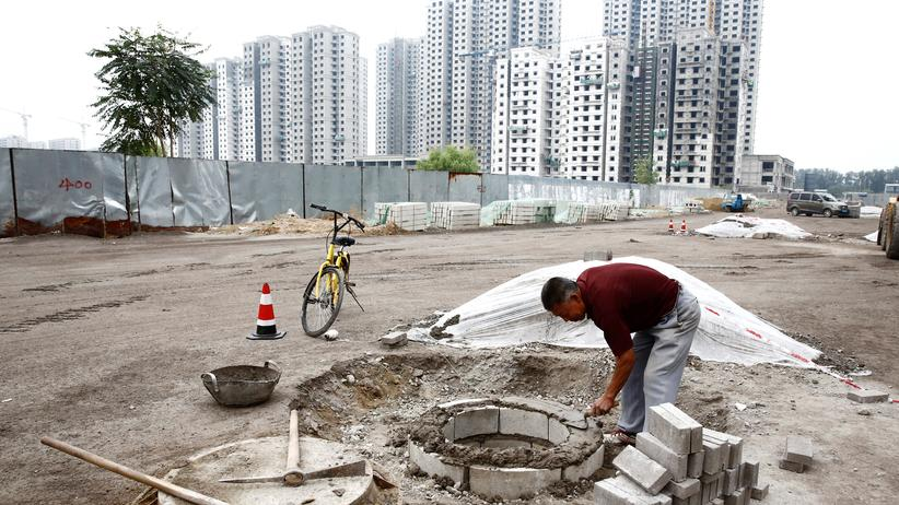Handelsstreit: Bauarbeiten in Peking
