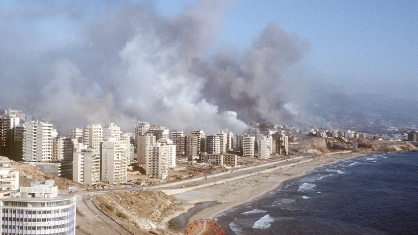 Libanonkrieg: Die libanesische Hauptstadt Beirut während des Libanonkriegs 1982