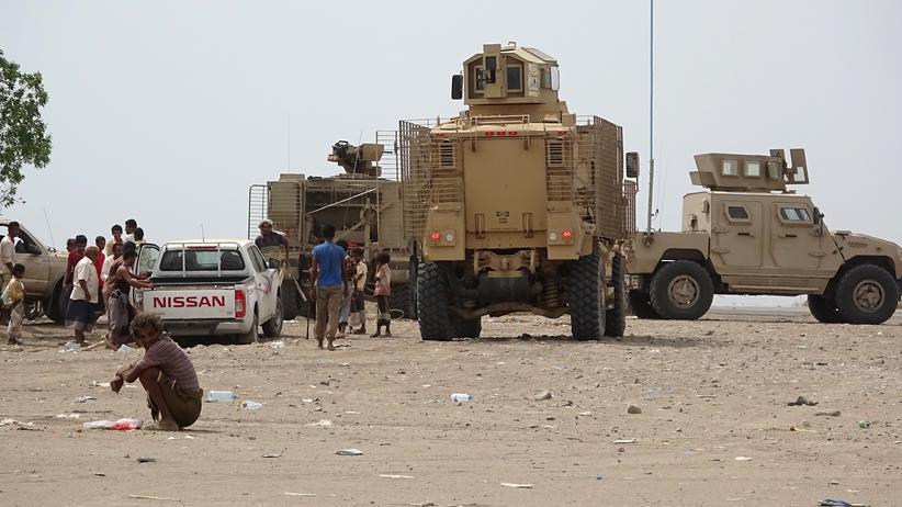 Jemenkrieg: Regierungstruppen in der Provinz Hudaida
