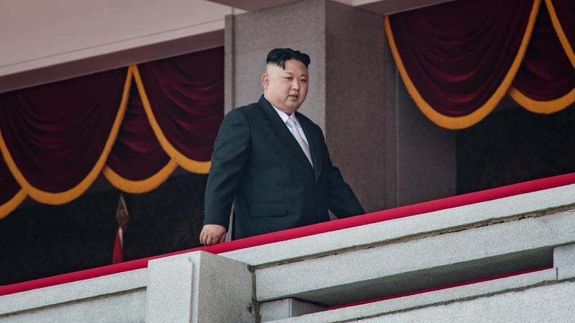 Kim Jong Un: Nordkoreas Machthaber Kim Jong Un im April 2017 in Pjöngjang