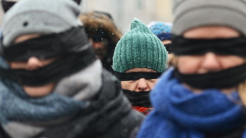 Justizreform: Demonstrierende in Krakau