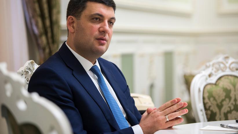 "Wolodymyr Hroisman: ""Russland will Europa als Geisel nehmen"""