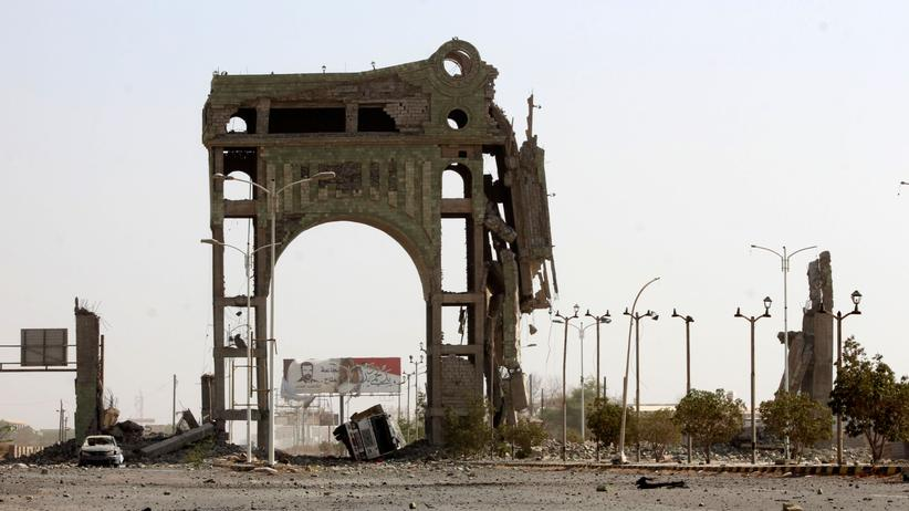 Bürgerkrieg im Jemen: Zerstörungen in der jemenitischen Hafenstadt Hudaida, November 12018