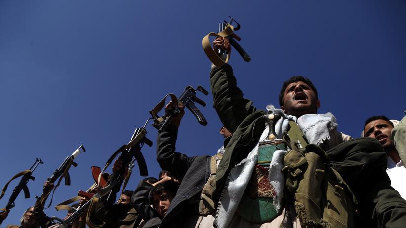 Jemen: Unterstützer der Huthi-Rebellen in der Hauptstadt Sanaa