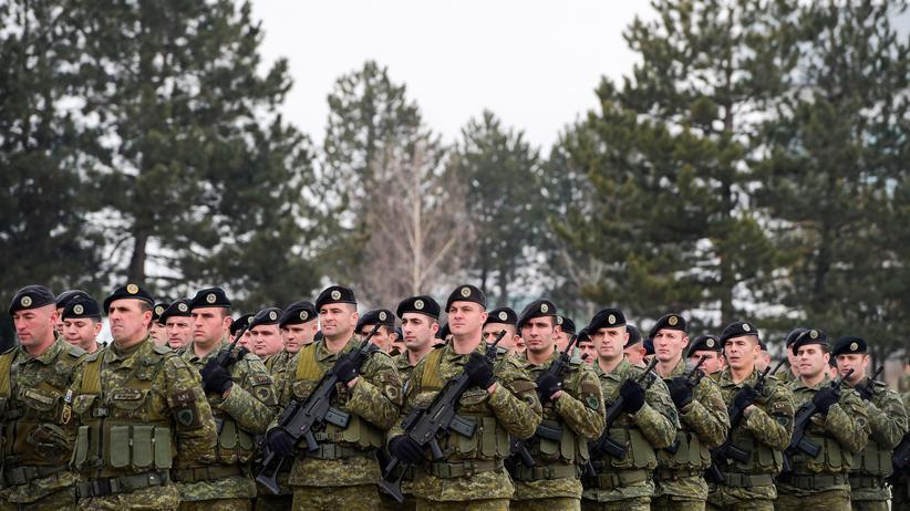 Militarisierungspläne: Die Kosovo-Sicherheitskräfte (KSF) sollen zu einer Armee umgebaut werden.