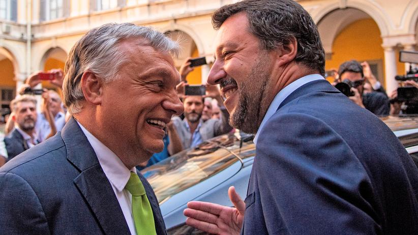 Europawahl 2019: Italiens Innenminister Matteo Salvini und Ungarns Premier Viktor Orbán im August dieses Jahres in Mailand
