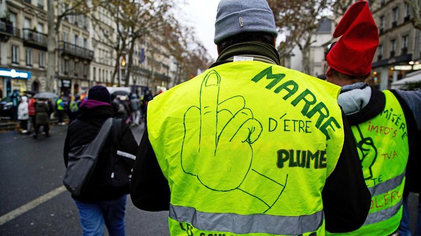 Unruhen in Frankreich: Randalierer in gelben Westen