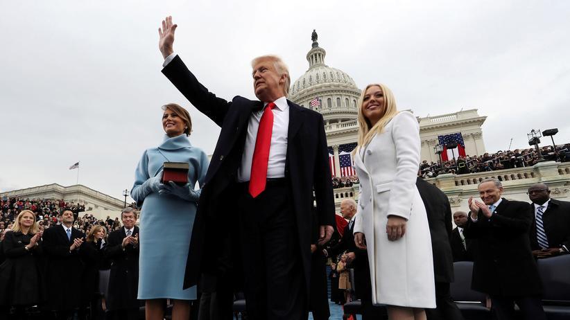 USA: US-Präsident Donald Trump während der Amtseinführung