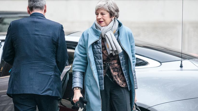 Theresa May: May kurz vor ihrer Rede im britischen Parlament