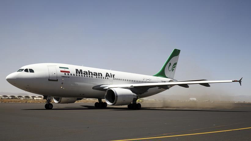 Mahan Air: Ein Flugzeug der privaten iranischen Fluglinie Mahan Air