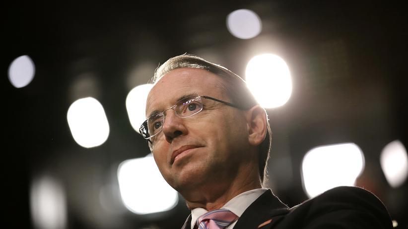 Rod Rosenstein: Stellvertretender US-Justizminister offenbar vor Rücktritt