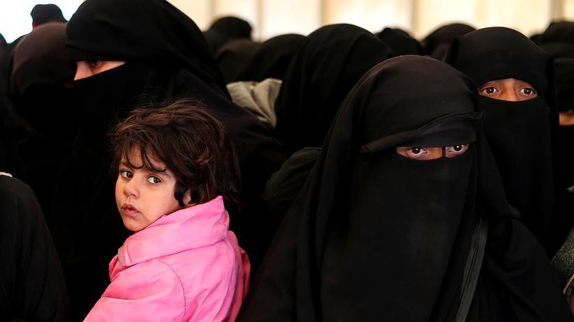 Syrien: Frauen in einem Flüchtlingscamp im Norden Syriens